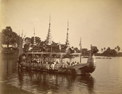 [Ceremonial barge, ?Inle Lake.]